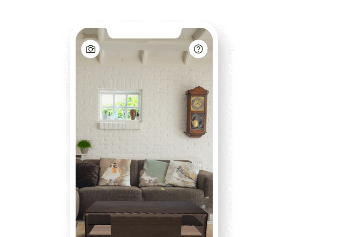 HomeByMe VR planner on a phone