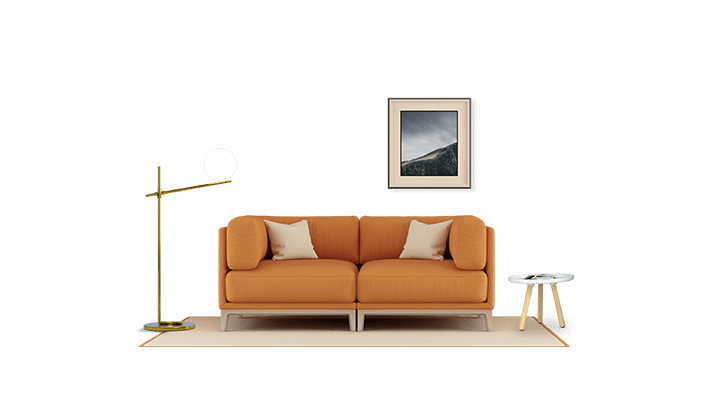 living room 2d graphic