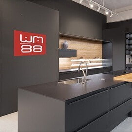 HomeByMe 3D rendering of kitchen WM88 showroom
