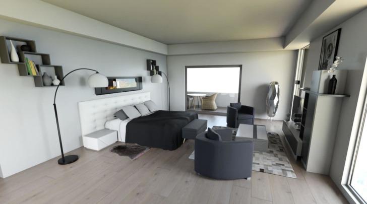 HomeByMe bedroom 3D rendering