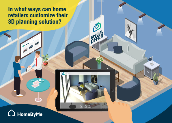 HomeByMe for home retailers 3D planning solution in a home retailer store