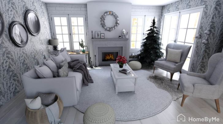 A HomeByMe user created living room in holiday decor