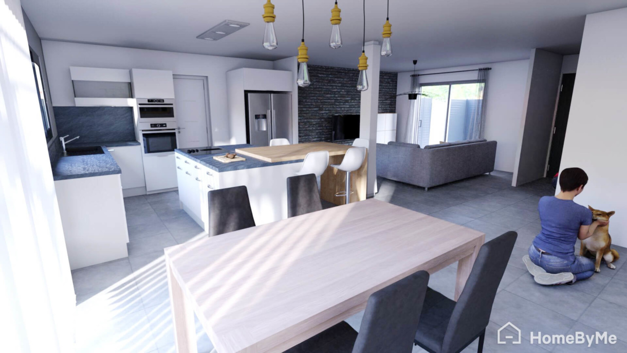 3D rendering from HomeByMe for Home Retailers 3D planning solution