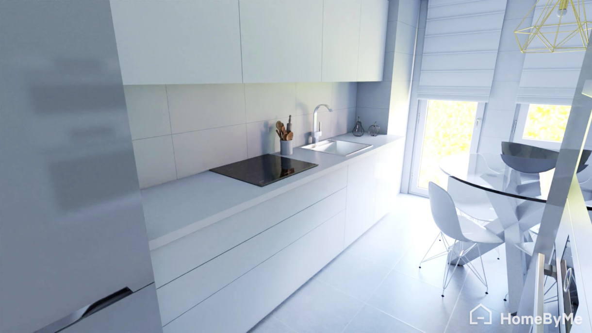 3D rendering from HomeByMe for Kitchen Retailers 3D planning solution