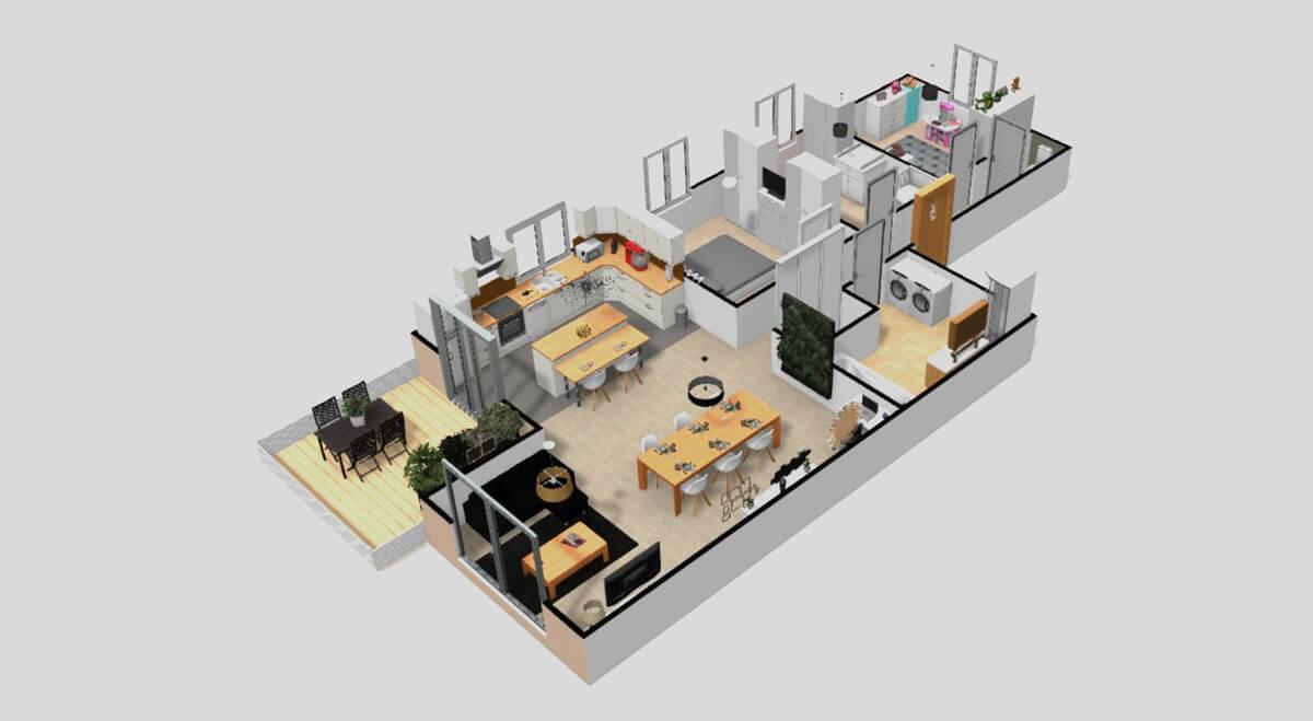 How To Create And Furnish Your 3d Floor Plan Homebyme