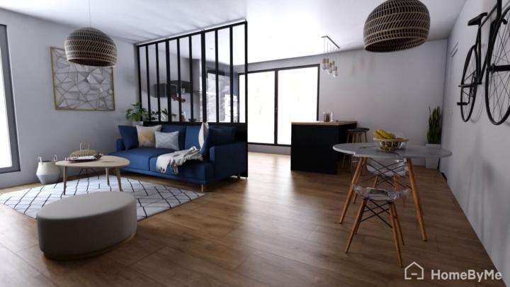 Designed by HomeByMe - Living room