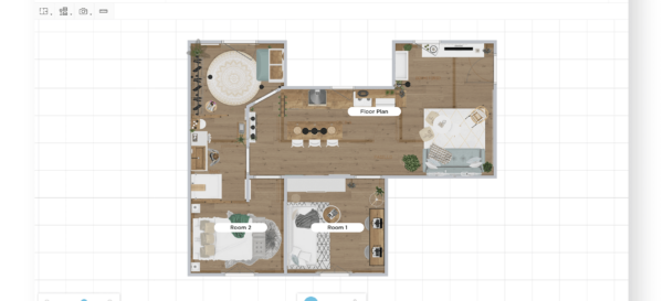 2D Floorplan HomeByMe